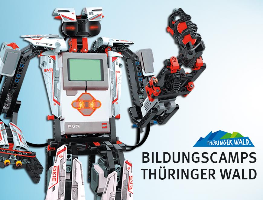 Projektbild Roboter zum Feriencamp unter dem Motto Technikcamp im Thüringer Wald