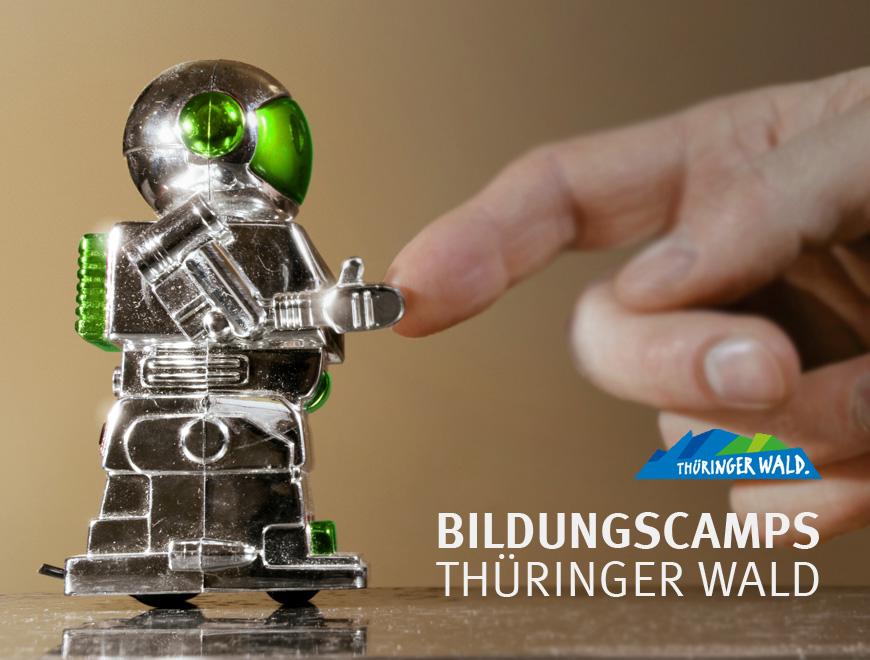 Projektbild zum Bildungscamp unter dem Motto Thema Technikcamp im Thüringer Wald - technische Innovationen kennenlernen