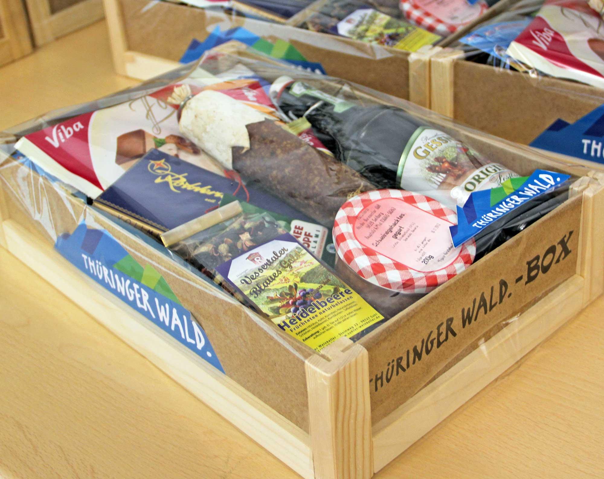 Regionale Produkte in der Thüringer Wald-Box - Foto: IHK Südthüringen