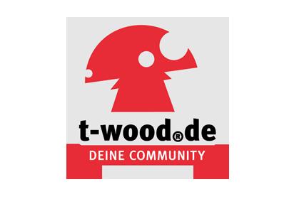 Logo der t-wood.de Community, ein Projekt des Regionalmarketing