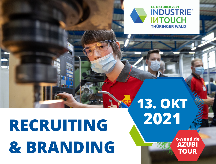 Projektbild Industrie inTouch Thüringer Wald mit Logo und Slogan Industrie zum Anfassen