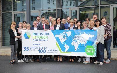 INDUSTRIE INTOUCH Thüringer Wald 2019 präsentiert: 35 Unternehmen regional verwurzelt in 100 Ländern global unterwegs