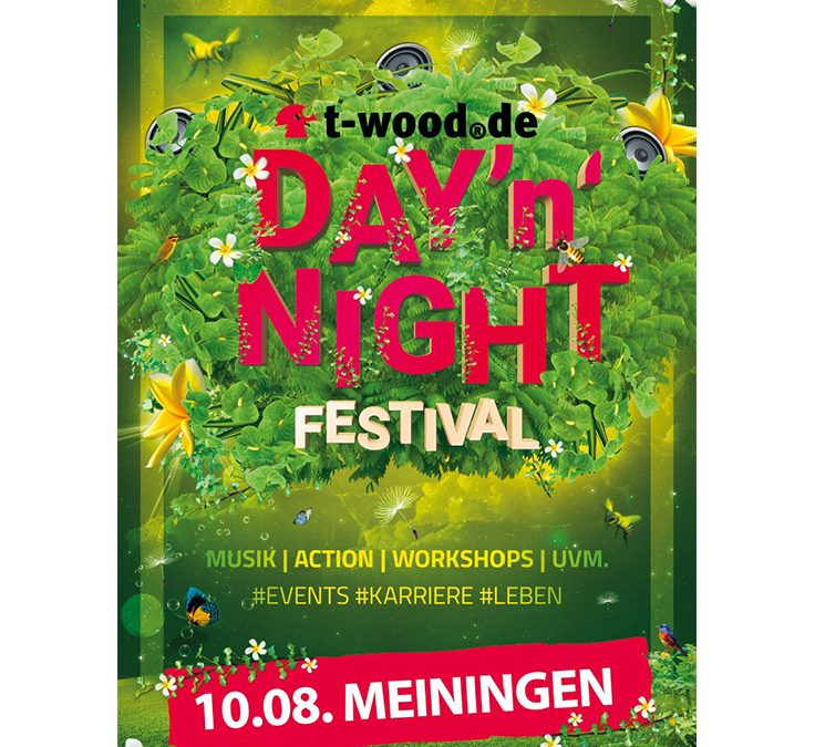 Neuauflage des t-wood.de Day'n'Night Festivals