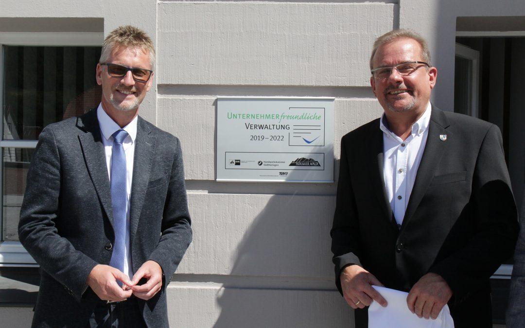 """Zella-Mehlis ist """"Unternehmerfreundliche Verwaltung im Thüringer Wald"""""""